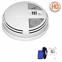 COLOR SMOKE DETECTOR DAY & NIGHT VISION PORTABLE BATTERY HIDDEN SPY CAMERA DVR BUILT IN, BOTTOM VIEW FOR WALL OR CEILING MOUNT