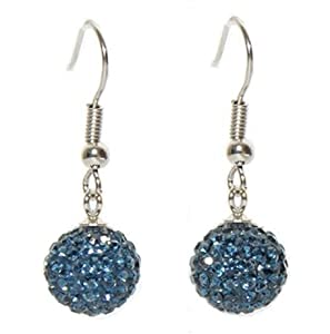 Shamballa Dangle Earrings with Beautiful Sparkly HIGH QUALITY Crystals