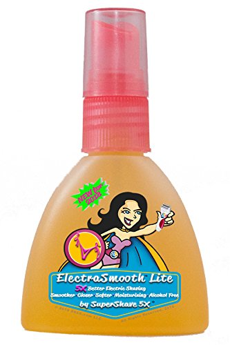 ElectraSmooth Lite For Women - Electric Shaving Lotion for a Smoother Closer Softer Moisturizing Alcohol Free Shave by SuperShave 5X