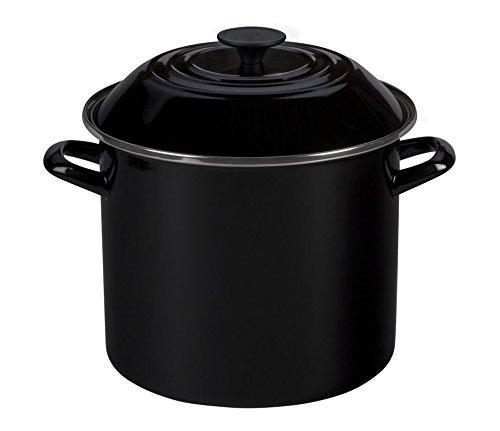 Le Creuset N4100-2031 Enamel On Steel Stockpot, 6 quart, Black