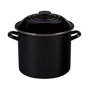 Le Creuset Enamel-on-Steel 6-Quart Covered Stockpot, Black Onyx