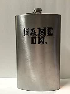 Wembley Tailgate Stainless Steel Oversize Flask GAME ON. 64oz