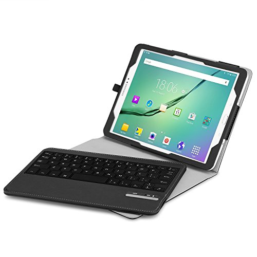 Bluetooth Keyboard For Android Samsung Tablet: Bluetooth Keyboard MoKo Samsung Galaxy Tab S2 9.7 Keyboard Case