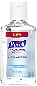 Purell Advanced Hand Sanitizer Refreshing Gel, 1 Fl Oz