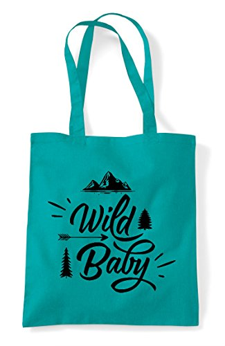 Wild Emerald Tote Statement Baby Shopper Bag Adventure Sxw4vrq6S