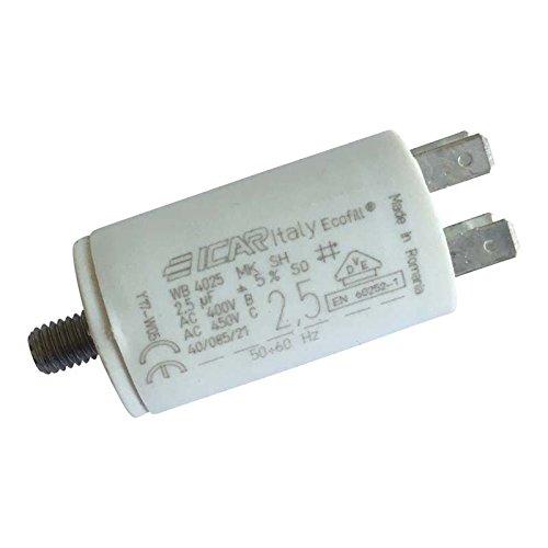Condensateur permanent moteur à cosse 2.5 µF ICAR