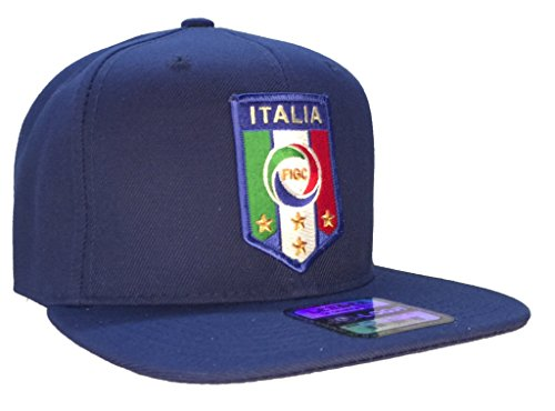 Italia National Football Team FIGC Hat Blue Flat Brim ()