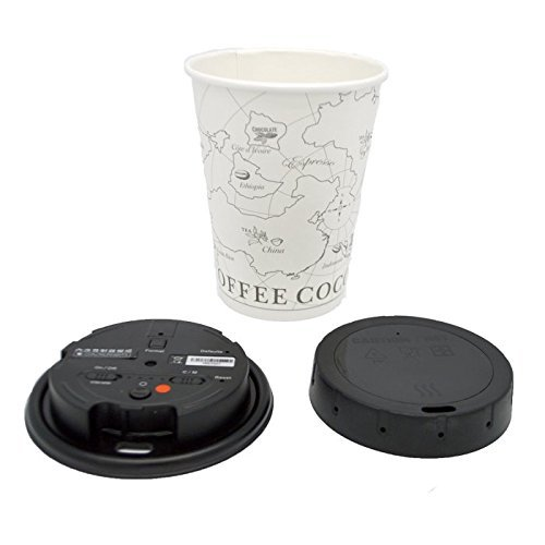 LawMate PV-CC10W 1080P Covert Coffee Cup Lid Camera DVR with WiFi with 32GB Micro SD Card by Lawmate