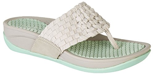 BareTraps Womens Denna Platform Sandal Light Gray/Green vD5BPjOFx0