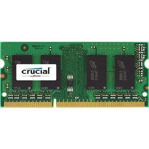 Crucial 4GB Single DDR3/DDR3L 1866 MT/s (PC3-14900) Unbuffered SODIMM 204-Pin Memory - CT51264BF186DJ -