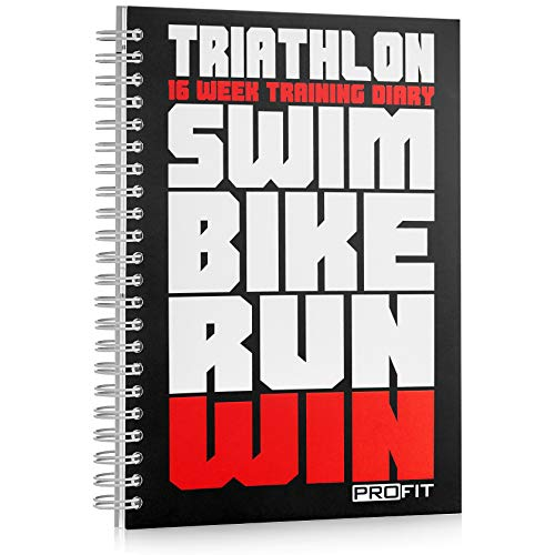 Triathlon & Running Training Diary Profit - Triathlete's Training Journal - 16-Week Triathlon Training Log - A5 Run Planner / 6x8 inches/Pen Included / 160 Pages/Undated / ()
