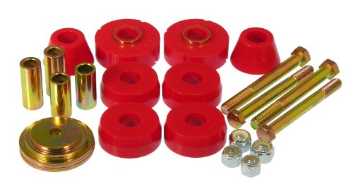 Prothane 7-118 Red Body and Standard Cab Mount Bushing Kit - 8 Piece