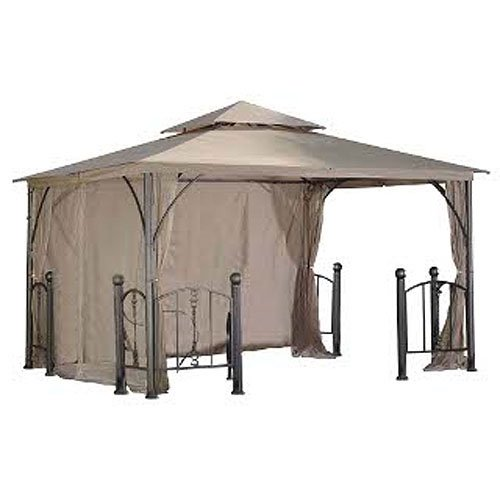 OPEN BOX Rome Post 10 x 12 Gazebo Replacement Canopy - RipLock