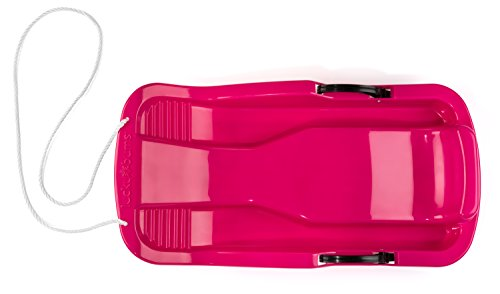 Lucky Bums Snow Kids Toboggan with Brakes, 34-Inch, Pink -