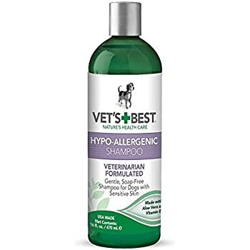 Vet's Best Hypo-Allergenic Shampoo for Dogs | Dog Shampoo for Sensitive Skin | Relieves Discomfort from Dry, Itchy Skin | Cleans, Moisturizes, and Conditions Skin and Coat | 16 Ounces
