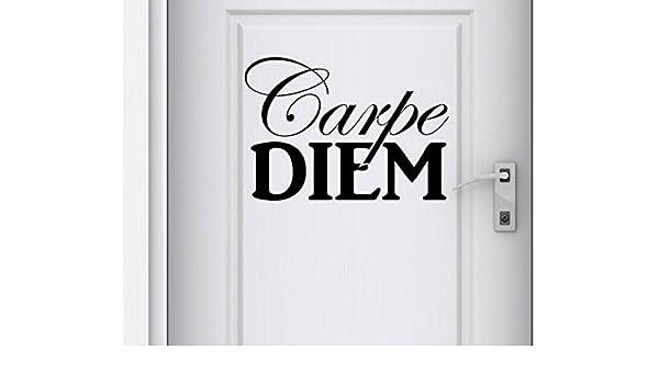 Pegatinas de Puertas Carpe Diem Dicho Texto Utilizar el Día ...