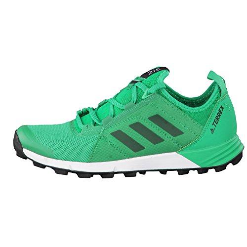 adidas Terrex Agravic Speed W, Botas de Montaña para Mujer, Verde (Verde Verbas/Verbas/Negbas), 40 EU