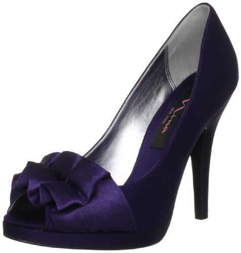 Nina Dames Evelixa Peep-toe Pump Grape