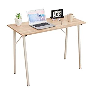 ASUUNY Computer-Desk for Small Spaces, Home Office Laptop Desk with Metal Legs, Modern Writing Table Study Desk for Kids…