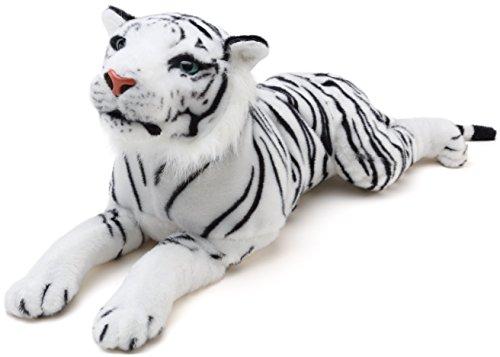- VIAHART Sada The White Tiger   2 Foot Long Stuffed Animal Plush   by Tiger Tale Toys