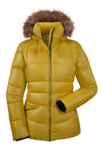 Schöffel Jacke, Daunenjacke, Debby, hochwertig. Ideal für Reisen, Outdoor, Stadt. Yellow.
