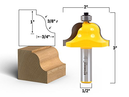 Yonico 13982 3/4-Inch Roman Ogee Edge Forming Router Bit 1/2-Inch Shank Edge Forming Router Bit