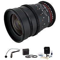 Rokinon 35mm T1.5 Cine Lens for Sony E, BUNDLE #CV35-NEX K