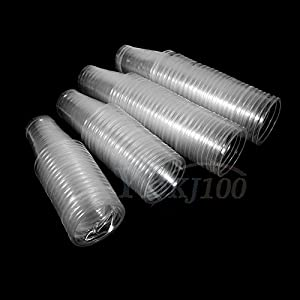 AMAZZANG-100pcs Clear Plastic Healthy Disposable Water Tea Juice Drinking Cup Hot Outdoor