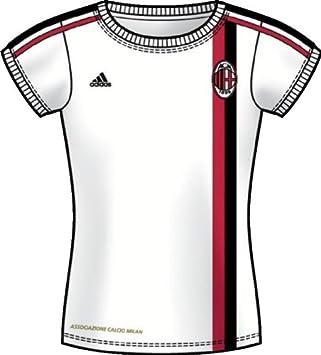AC Milan Camiseta de fútbol de Las Mujeres, Mujer, Blanco