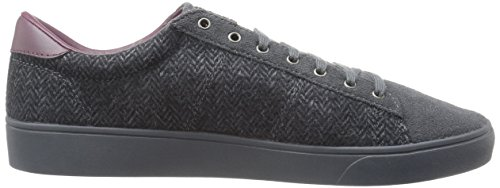 Fred Perry Spencer Tweed/Suede Charcoal B9071491, Turnschuhe
