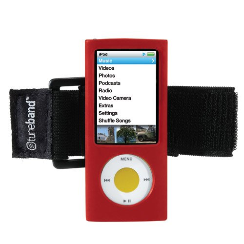 TuneBand for iPod nano 5th Generation (Model A1320, 8GB/16GB, Rear Camera), Premium Armband, Compatible with Nike+iPod, RED (Ipod A1320)