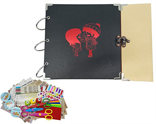 - Scrapbook Album, Tennove Scrapbook with Photo Album Storage Box Vintage Memory Book with DIY Scrapbooking Supplies Kits for Gifts Wedding Travel Anniversary Record(Romantic)