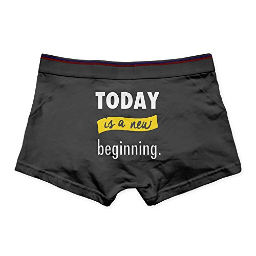Today Is New Beginning Men's Cool Printing Boxer Briefs Underpants (Cool Words Beginning With E)