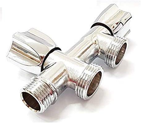 TLDSHOP® Grifo doble para lavadora/lavavajillas – Carga agua – Grifo de pared para conexión lavadora y lavavajillas – 1/2 x 3/4