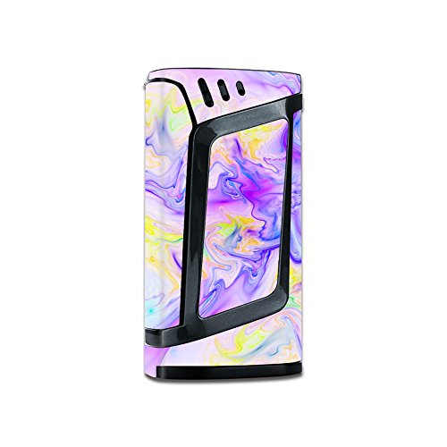 Skin Decal Vinyl Wrap for Smok Alien 220W Vape stickers skins cover/Pastel Marble resin pink purple swirls mix
