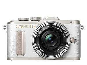 Olympus Pen E-PL8 White Digital Camera & 14-42 EZ L