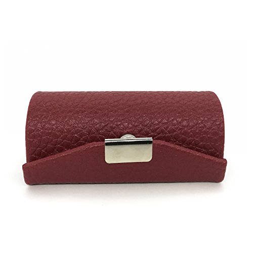 HUNGER Leather Lipstick Case Holder With Mirror ()