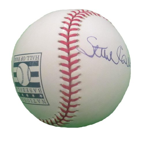 (Philadelphia Phillies Steve Carlton Autographed Hand Signed Rawlings Hall of Fame ROMLB Baseball with Proof Photo Signing, St Louis Cardinals, San Francisco Giants, Chicago White Sox, Minnesota Twins)