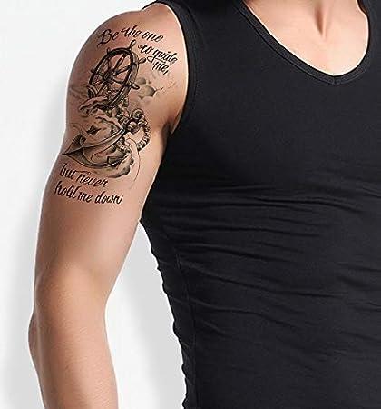 Tatuaje falso de Anker Tatuaje de brazo superior para pegar el ...
