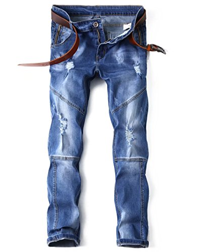 Mens-Straight-Slim-Fit-Jeans-with-Broken-Holes