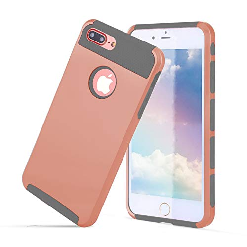 Compatible with iPhone 6S Plus Case,iPhone 6 Plus Phone Case,Slim Cute Pattern Cover Hard PC Soft Rubber Protective Skin Heavy Duty Anti Slip Cover for iPhone 6/iPhone-Rosegold