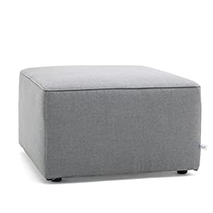 Big Joe Lux Indoor/Outdoor Modular Collection, Ottoman, Cast Slate Sunbrella
