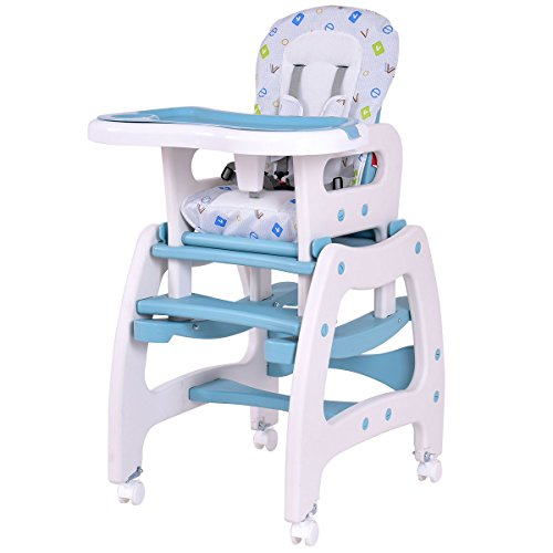 Blue and white PP, fabric Baby Highchairs With Ebook
