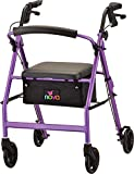 NOVA Vibe 6 Rollator Walker, Purple