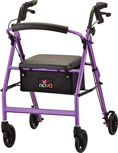 NOVA Vibe 6 Rollator Walker, Purple (Zoom Brake 160)