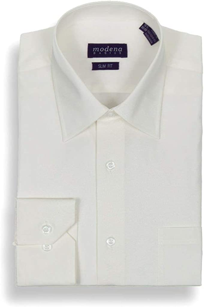 All Sizes Slim Colors Modena Men/'s Regular /& Contemporary Fit Long Sleeve Solid Dress Shirt