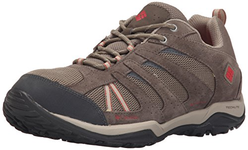 Columbia Women's Dakota Drifter Waterproof Hiking Shoe, Pebble, Poppy Red, 9 B...