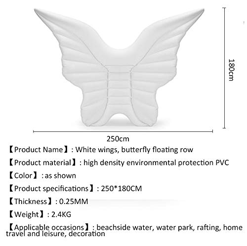 Inflatable Butterfly Floating Row Adults Kids Summer Beach Toy Swimming Pool Party Lounge Raft-White by WYL (Image #5)