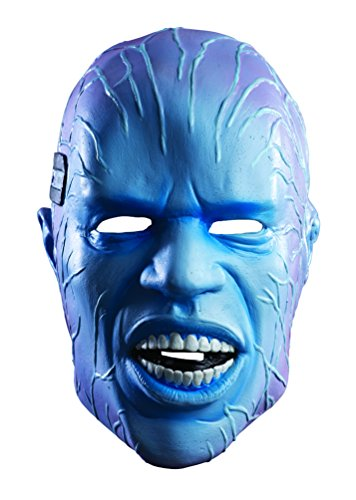 Electro Adult Costumes (Rubie's Costume Men's The Amazing Spider-man 2 Adult Electro Overhead Deluxe Latex Mask, Multi, One Size)
