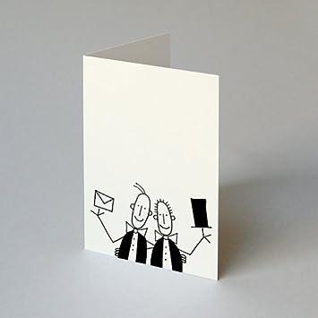 Hochzeitskarte Fur Schwule Manner Franz Basdera Zylinder Und Brief